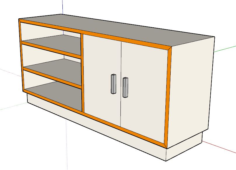 3D Modell eines Sideboards
